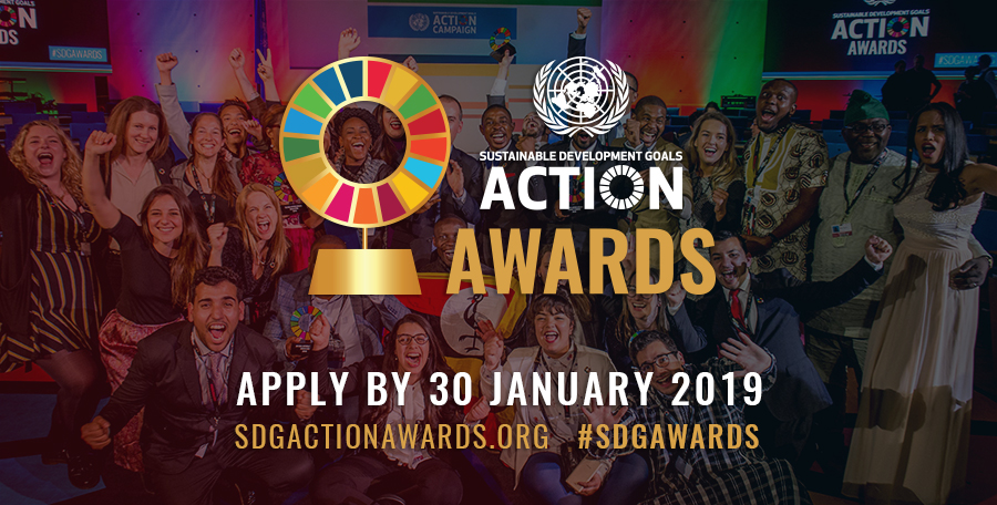 Calling on SDG advocacy changemakers from across the globe for the UN SDG Action Awards