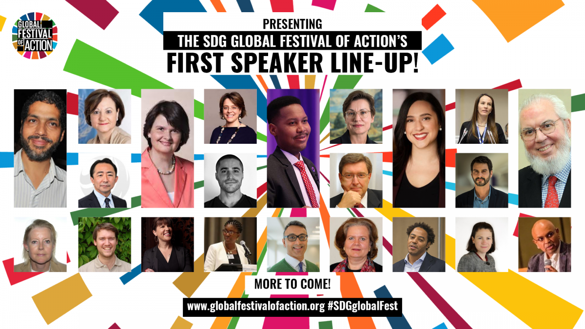 First 2019 SDG Global Festival of Action Speakers Announced!